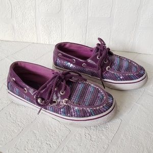 Sperry Top-Sider Bahama Plum Sequin Boat Shoes